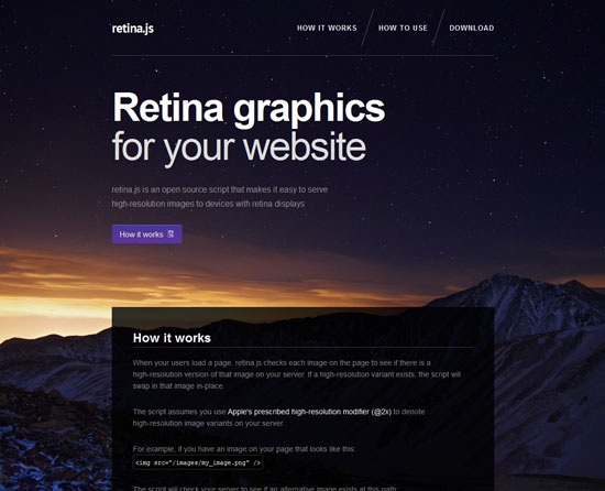 retina.js Tool for web designers and web developers