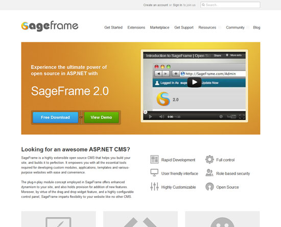 SageFrame Tool for web designers and web developers