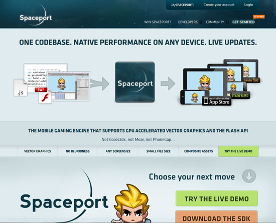 Spaceport.io Tool for web designers and web developers