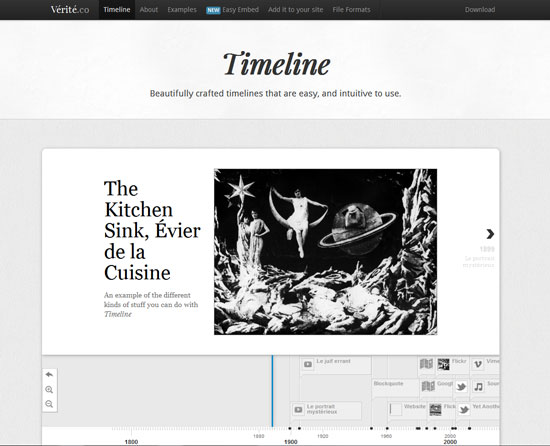 Timeline Tool for web designers and web developers