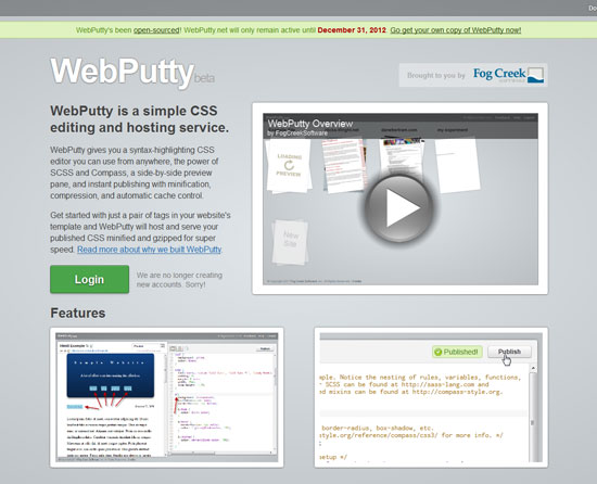 WebPutty Tool for web designers and web developers