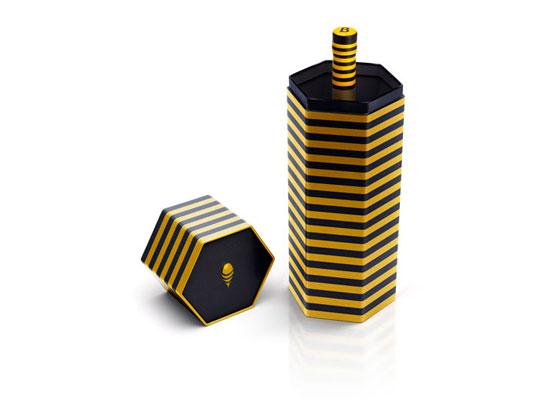 B Honey Cachaca Package Design Inspiration