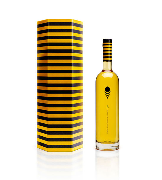 B Honey Cachaca 2 Package Design Inspiration
