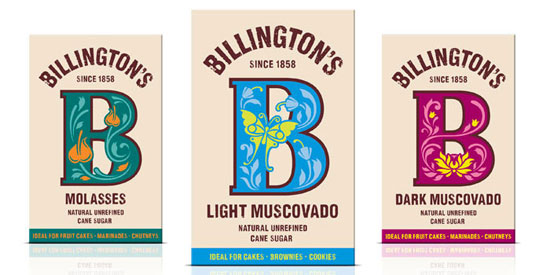 Billington's Sugar Package Design Inspiration