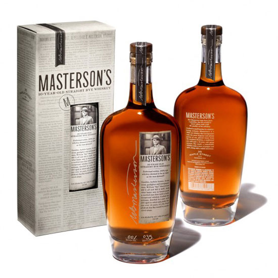 Masterson's Rye Whiskey Package Design Inspiration