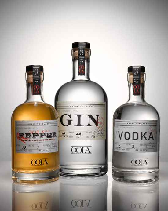 Oola Distillery Package Design Inspiration