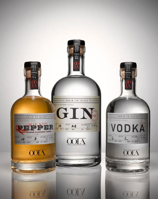Oola Distillery Package Design Inspiration