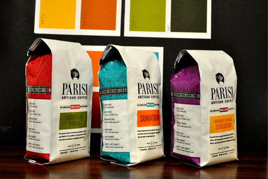 Parisi Coffee  Package Design Inspiration