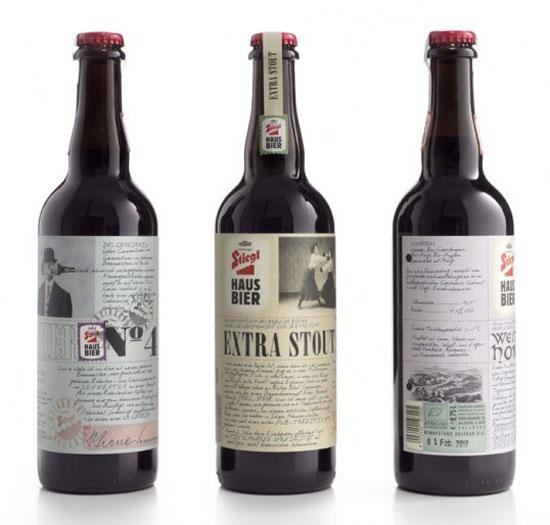 Stiegl Haus Bier Package Design Inspiration