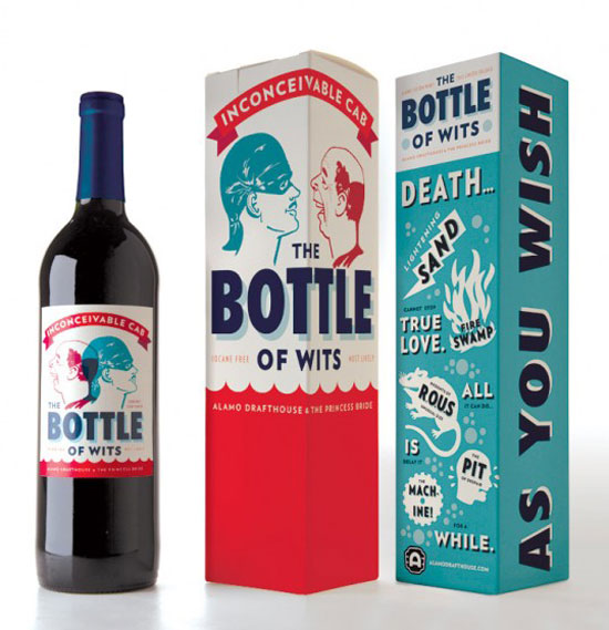 The Bottle of Wits Package Design Inspiration