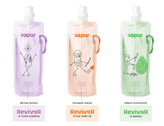 Vapur Water Package Design Inspiration