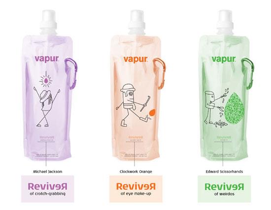 Vapur Water Package Design Inspiration