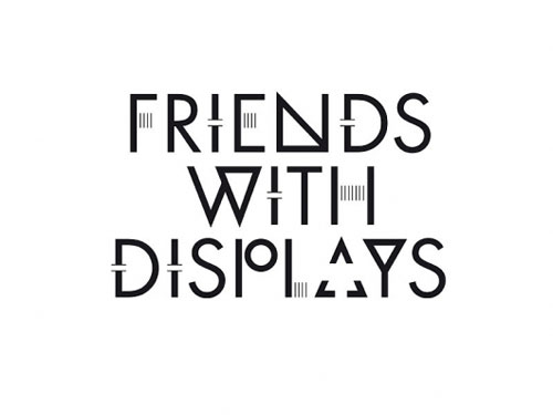 Friends with displays Typography Inspiration