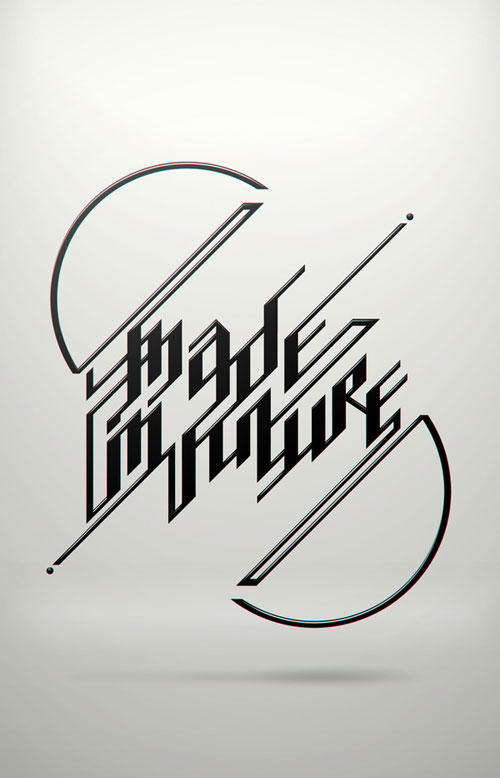 Made in future. Post it awards. Typography Inspiration