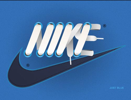 NIKE Laces Typography Inspiration