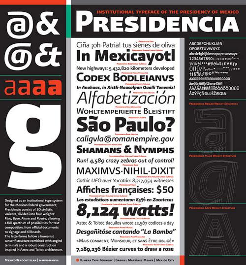 Presidencia Sans Typography Inspiration