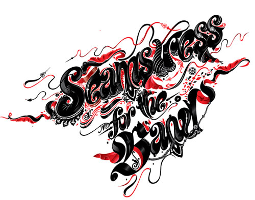 Seamstress for the Band Typography Inspiration