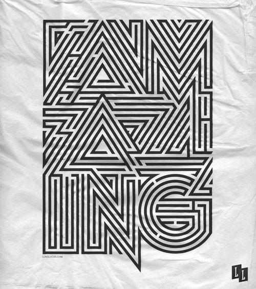 Sushi Magazine - Labyrinth Typography Inspiration