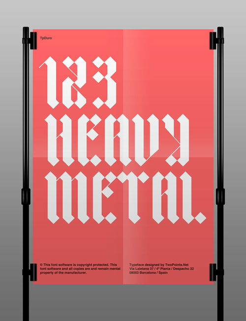 TP DURO font Typography Inspiration