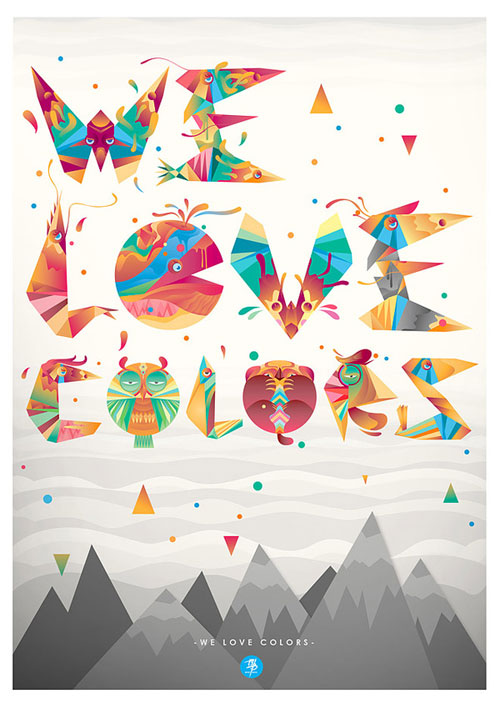 We Love Colors Typography Inspiration