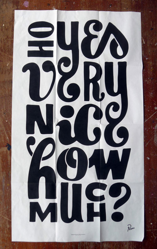 silkscreen poster insert for its nice that magazine 2010 Typography Inspiration