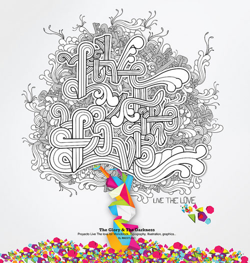 Live the love Typography Inspiration