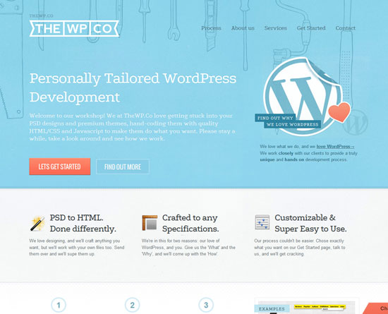 thewp.co Site Design