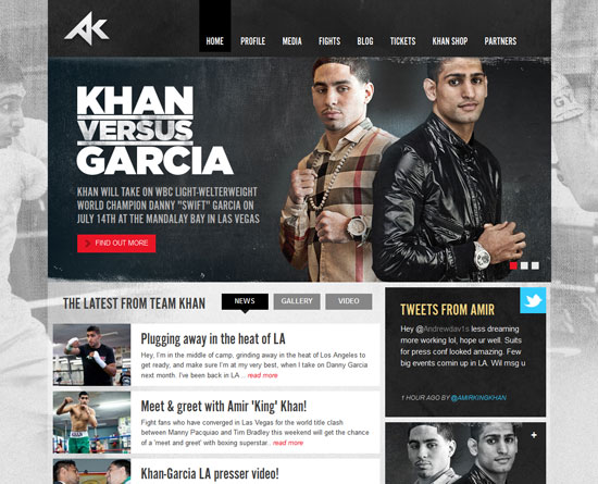 amirkhanworld.com Site Design
