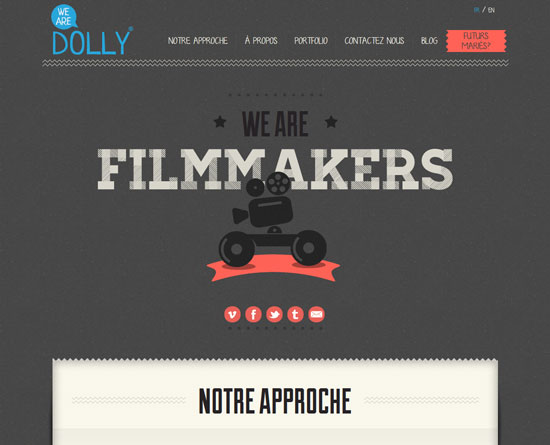wearedolly.fr Site Design