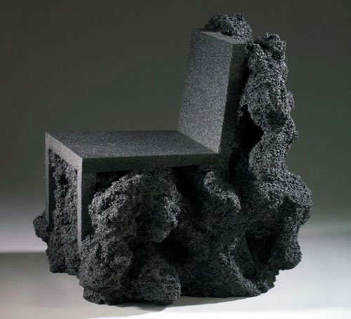 Metamorphosis: Exceptionally cool volcanic rock chair
