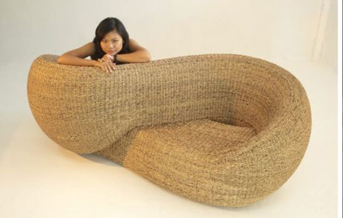 Sustainably chic Double Armchair