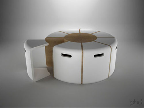 Swiss Cheese Inspired Table By Paulodesign