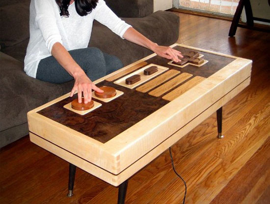 Functional Nintendo NES Controller Coffee Table