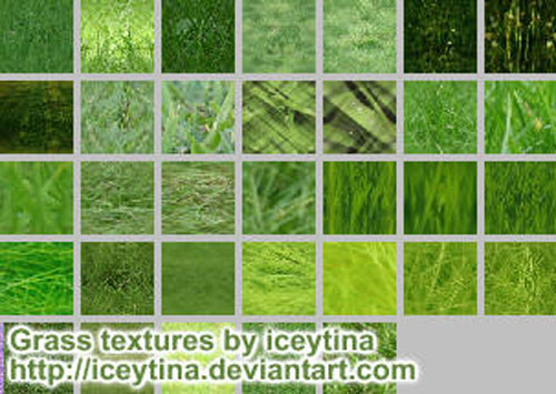 Grass Patterns or Textures by ~iceytina - Free grass textures ready to download