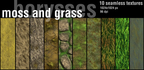Moss and grass by ~borysses - Free grass textures ready to download