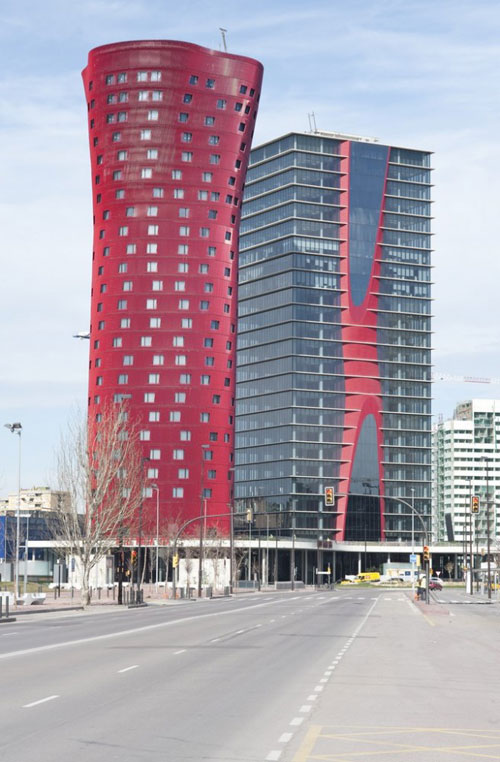 Porta Fira Towers in Barcelona, Spain - Inspiring Hotels Architecture