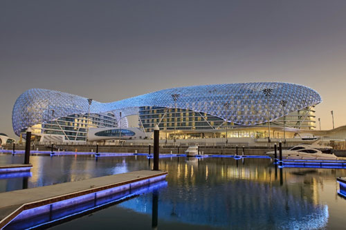 The Yas Hotel in Abu Dhabi, UAE - Inspiring Hotels Architecture