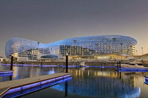 The Yas Hotel in Abu Dhabi, UAE - Inspiring Hotels Architecture