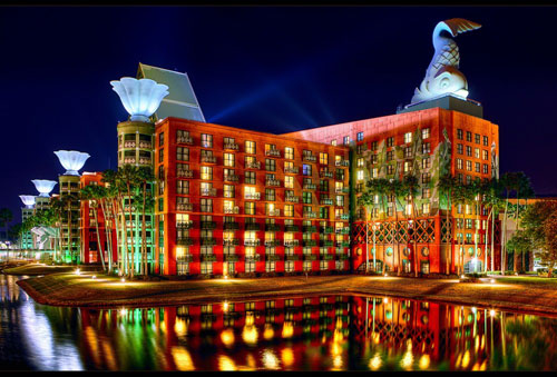 Walt Disney World Swan and Dolphin Resort in Lake Buena Vista, Florida, USA - Inspiring Hotels Architecture