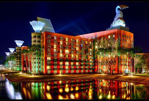 Walt Disney World Swan and Dolphin Resort in Lake Buena Vista, Florida, USA - Inspiring Hotels Architecture