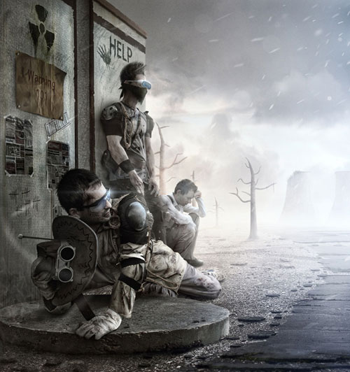 Nuclear winter Photo Manipulation
