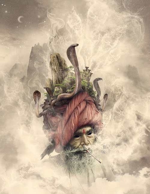 The God of Smoke Photo Manipulation