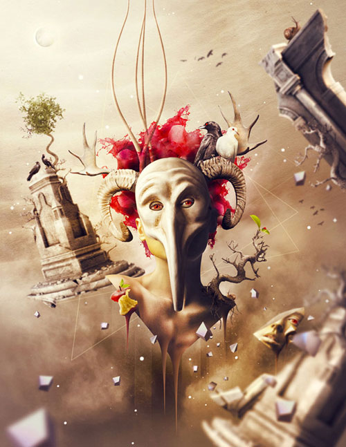 The Mask of Sorrow Photo Manipulation