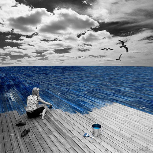 Work on the sea Photo Manipulation