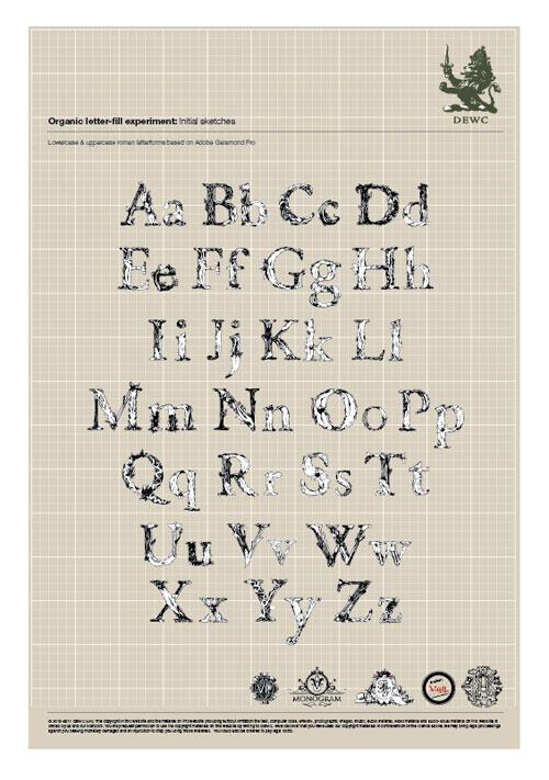 Hand Drawn Letter Fill Font Experiment 1 Impressive