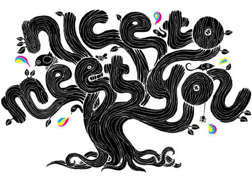 Illustrated Type Impressive Hand Drawn Typography Inspiration
