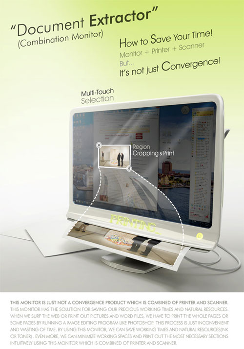 Document Extractor – Combi Monitor - High Tech Gadgets To Give Your Home A Futuristic Look