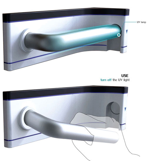 Door Handle With Self-sterilization System 4 - High Tech Gadgets To Give Your Home A Futuristic Look