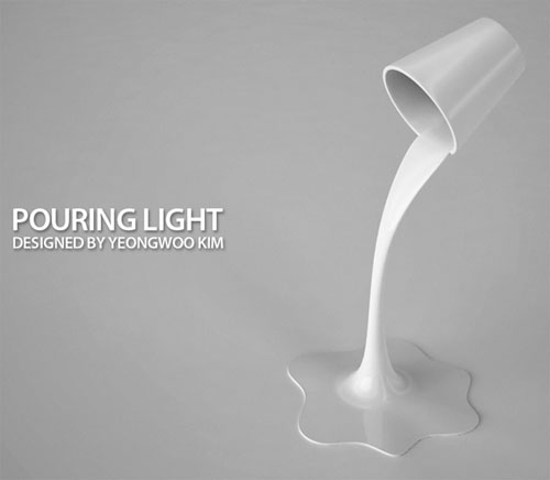 Pouring Light lamp - High Tech Gadgets To Give Your Home A Futuristic Look