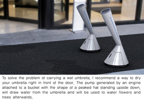 Swan Umbrella Dryer - High Tech Gadgets To Give Your Home A Futuristic Look